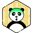 face, panda, sick icon