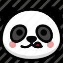 emoji, emotion, expression, face, feeling, naughty, panda