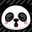 emoji, emotion, expression, face, feeling, panda, relax icon