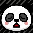emoji, emotion, expression, face, feeling, panda, tried icon