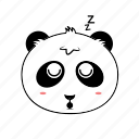 avatar, emoticon, expression, face, panda, sleep, smiley icon