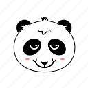 animal, avatar, emoticon, expression, face, panda, smiley icon