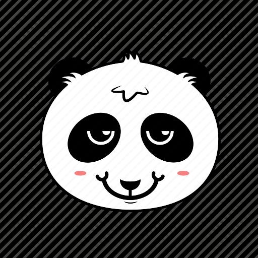 animal, avatar, emoticon, expression, face, panda, smiley icon
