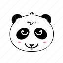 animal, cool, emoticon, expression, face, panda, smiley icon