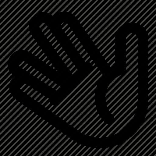 finger, hand, palm, sign, spock, star trek, v icon