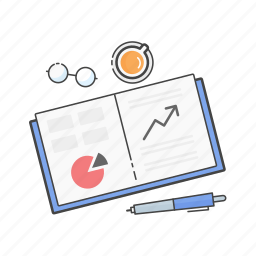 book, chart, finance, growth, report, statistics, stats icon
