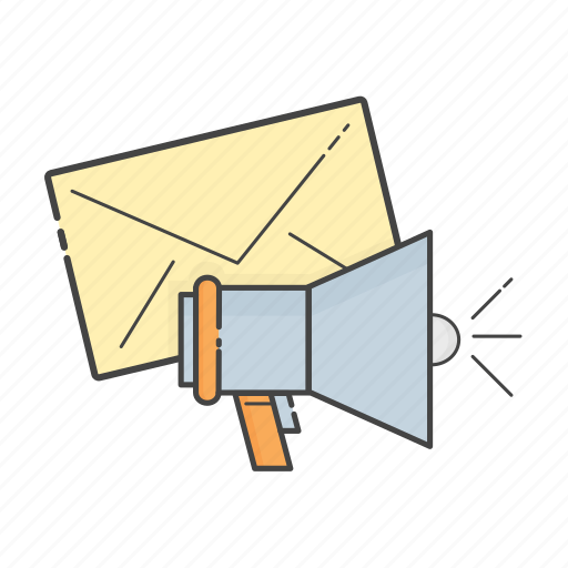 communication, email marketing, marketing, newsletter, shoutout, social, speaker icon