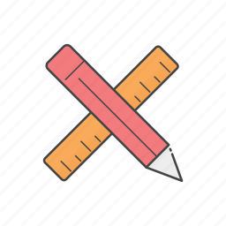 drawing, pen, pencil, planning, scale, sketch, tools icon