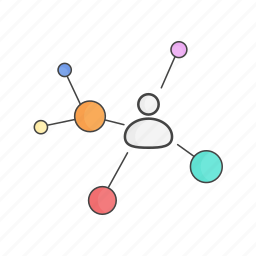 collaboration, communication, connect, network, sharing, social icon
