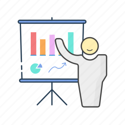 analytics, growth, leader, marketing, report, stats, strategy icon