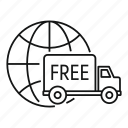 delivery, free, global, package, service, shipping, truck