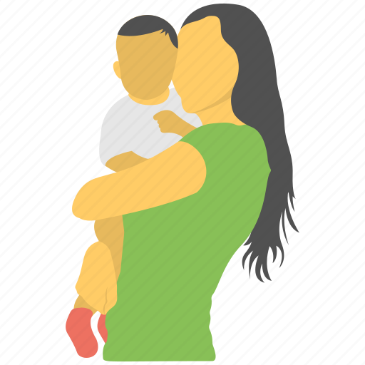 kid, mother and son, mother care, motherhood, tenderness icon