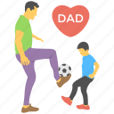 father and kid, friendly dad, love relation, playing dad, super dad icon