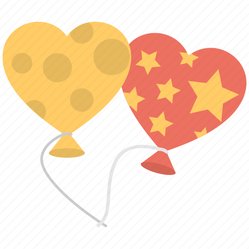 balloons, decoration accessory, flying balloon, heart balloon, mother day celebration icon