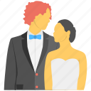 husband wife, marriage day, newly weds, wedding couple, young couple icon