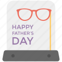 card, fathers day, greetings, letter, wishes icon