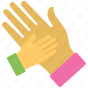 celebration, excitement, hi five, high five, human hands icon