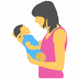mother care, mother love, mother with infant, motherhood, mothers day icon