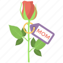 beautiful flower, greeting flower, mom rose, mothers day, rose bud icon