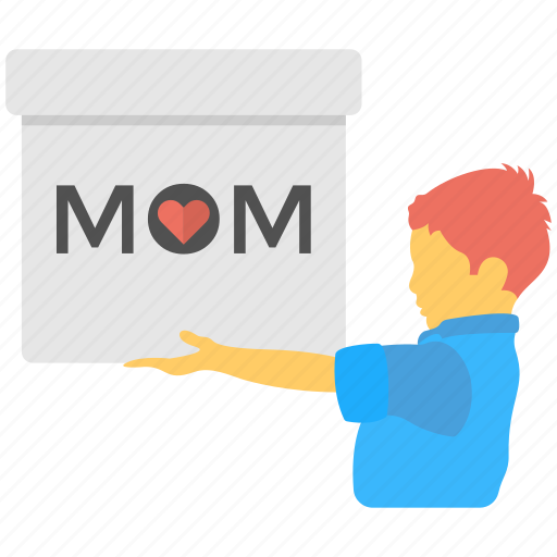 children love, gift box, greeting gift, mother day, wishing gift icon