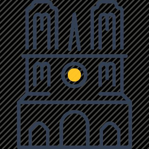build, castle, paris icon