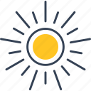 paris, sun, weather icon