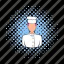 cap, chef, comics, cook, kitchen, man, restaurant