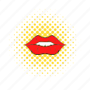 beauty, comics, female, lip, makeup, mouth, red