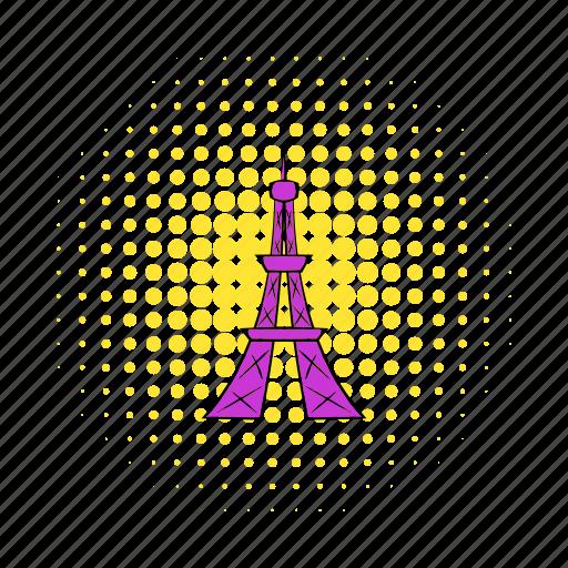 comics, eiffel, france, paris, tourism, tower, travel icon