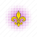 comics, emblem, fleur, flower, france, french, lily icon