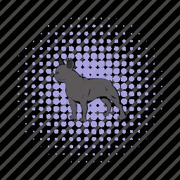 animal, breed, bulldog, comics, dog, french, pet icon