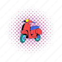 comics, french, moped, motor, motorbike, motorcycle, scooter icon