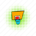 ball, basketball, comics, hoop, outdoor, playground, sport icon