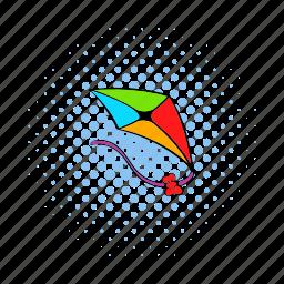 comics, fun, high, kite, play, toy, wind icon