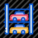 car, multi-storey, parking, transport