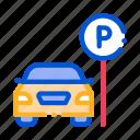 car, parking, transportation, vehicle icon