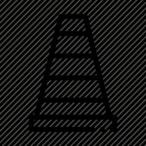 car, cone, parking, road icon