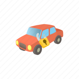 car, impound, impounded, machine, service, transportation, truck icon