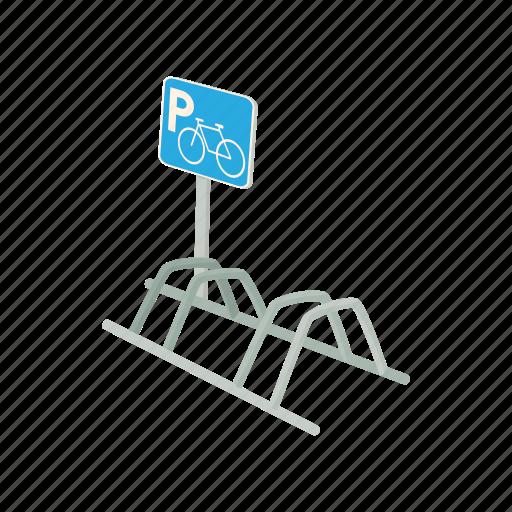 bicycle, bike, cycle, parking, road, traffic, transport icon