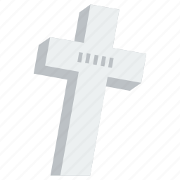 cross, grave, graveyard, halloween, horror, tomb, tombstone icon