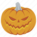 evil, halloween, horror, lantern, pumpkin, scary, vegetable icon