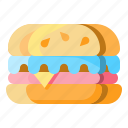burger, fast, food, hamburger, junk, sandwich icon