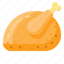 chicken, food, plate, salver icon