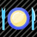 eating, food, plate, restaurants, tool icon