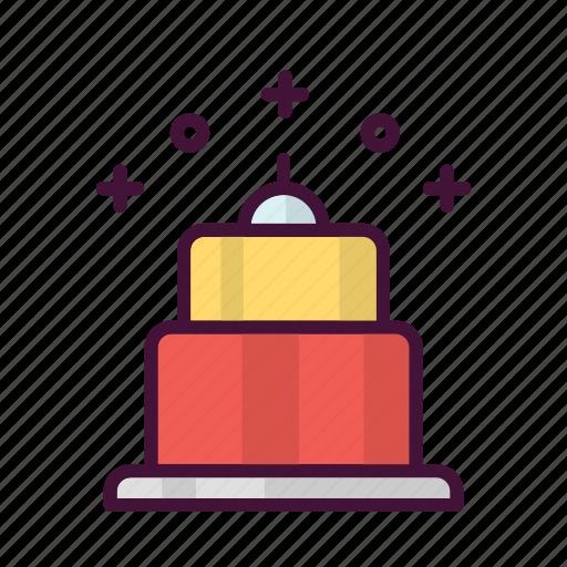 birthday, cake, celebrate, drink, food, party, tart icon