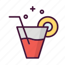 birthday, celebrate, drink, food, lemon, party, tea icon