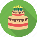 birthday, birthday cake, cake, candle, celebration, dessert, party icon