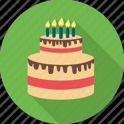 birthday, birthday cake, cake, candle, celebration, dessert, party icon