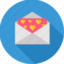 envelope, heart, letter, love letter, romance, romantic, valentine icon