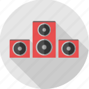 audio, instrument, music, music system, sound, sound system, speaker icon